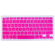 couverture silicium clavier QWERTY pour mac book (rose)