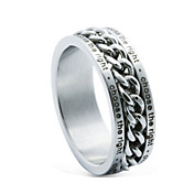 Man`s Vehicle Wheel`s Chain Titanium Steel Ring