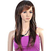 Capless Long High Quality Synthetic Brown Straight Hair Wig
