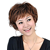Capless Short High Quality Synthetic Brown Curly Hair Wig