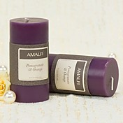 Natural Scents Lilac Pillar Candle