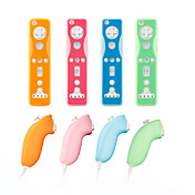 El estuche de silicona protectora para Wii / Wii U Remote y Nunchuk (4-pack, colores surtidos)