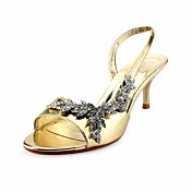 Leatherette Upper Stiletto Heel Pumps With Rhinestone Wedding Shoes More Clors Available