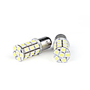 2 Pcs 27 LED 5050 Turn/Brake Light Bulbs White(Constant light/Strobe)