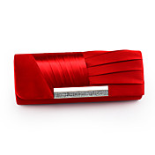 Satin With Austrian Rhinestone Evening Handbags/ Clutches More Colors Available