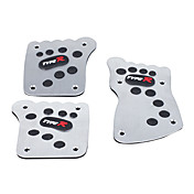 3 stk footprints stil bil brems / clutch pedal / gasspedal-sort + slv