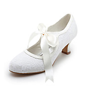 Top Quality Satin Upper High Heel Closed-toes With Ribbon Tie Wedding Bridal Shoes