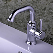 Chrome Single Handle Centerset Bathroom Sink Faucet
