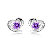 Charming 925 Sterling Silver/Rhinestone With Platinum Plating Earrings