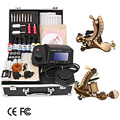 Damascus Hand-made 2 Tattoo Machines Kit with LED Power