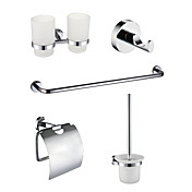5-Pieces Chrome Finish Bathroom Accessory Set