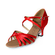 Women's Satin Upper Ballroom Dance Shoes Latin Shoes More Colors