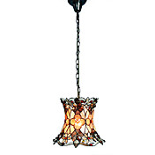 Artistic Tiffany Style Pendant Light with Floral Pattern