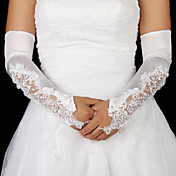Satin Bridal Fingerless Opera Length Gloves
