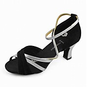 Satin Upper Dance Shoes Ballroom Latin Shoes for Women