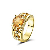Gorgeous  Rhinestone With 14K Gold Plating Ring (More Colors)