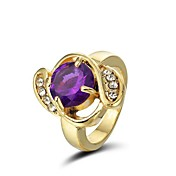 Crystal In 14K Gold Plating Cocktail Ring (More Colors)