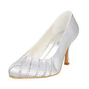 Satin Upper Wedding Pumps Stiletto Heel More Colors Available