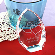 Personlized Elegant Crystal Table Display Keepsake