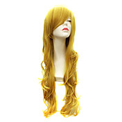 Capless Long Body Wave Synthetic Ginger Party Hair Wig