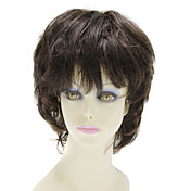 Capless Short 100% Human Hair Straight Hair Wig