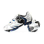 Cycling MTB SPD Shoes With Fiberglass Sole and PU Leather Upper