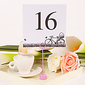 Square Table Number Card – Bicycle (Set of 10)