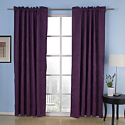 (Two Panels) Commitment Embossed Blackout Thermal Curtains