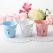 Favor Pail With Baby Carriage Cutout  Set of 12 (More Colors)