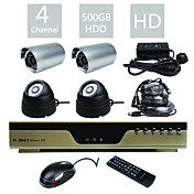 particolare - economica all-in-one 4CH DVR kit (500g disco rigido, h.264)