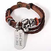 Personalized Skull And Dogtag Bracelet