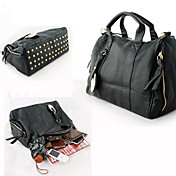 Fashionable Ladies' Studed PU Handbag