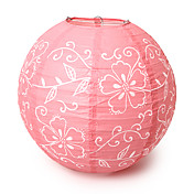 "14"" Floral Print Paper Lantern (More Colors)"