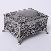 Personalized Vintage Tutania Rectangle Delicate Jewelry Box