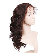 Glue-Less Hand-tied Lace Front Body Curly 20 Inch Indian Remy Hair Wig