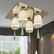 Stylish Crystal Semi Flush Mount with 4 Lights