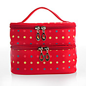 Stylish Women's Polyester Cosmetic Bag With Colorful Dot