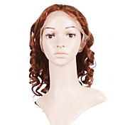 Glue-Less Hand-tied Lace Front Body Curly 16 Inch Indian Remy Hair Wig