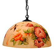 Floral Patterned Pendant Light with 1 Light