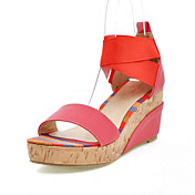 Leatherette Wedge Heel Sandals / Wedges With Split Joint Casual Shoes (More Colors Available)