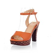 Beautiful Leatherette Chunky Heel Sandals With Buckle Party / Evening Shoes (More Colors)