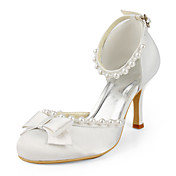 Satin Stiletto Heel Closed Toe / Pumps With Bow Wedding Shoes (More Colors Available)