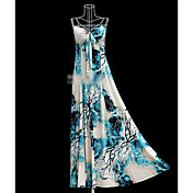 Blue Abstract Big Beach Dress