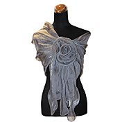 Terylene Evening/Office Wrap/Shawl With Flower Detail (More Colors)