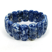 Blue Veins Stone Elastic Ladies' Strand Bracelet