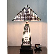 Tiffany Table Light with 3 Lights-Electroplate Finish