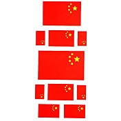 5 Stck Flagge von China temporre Ttowierung