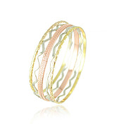 Three-colors Circle Design Ladies' Alloy Bracelet