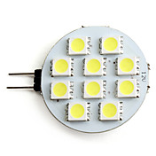 G4 10-5050 SMD 2-2.5W 100-110LM Natural White Light LED Spot Bulb (12V)