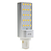 G24 3W 20x5050 SMD 200-250LM 2500-3500K Warm White Light LED Bulb (110-240V)